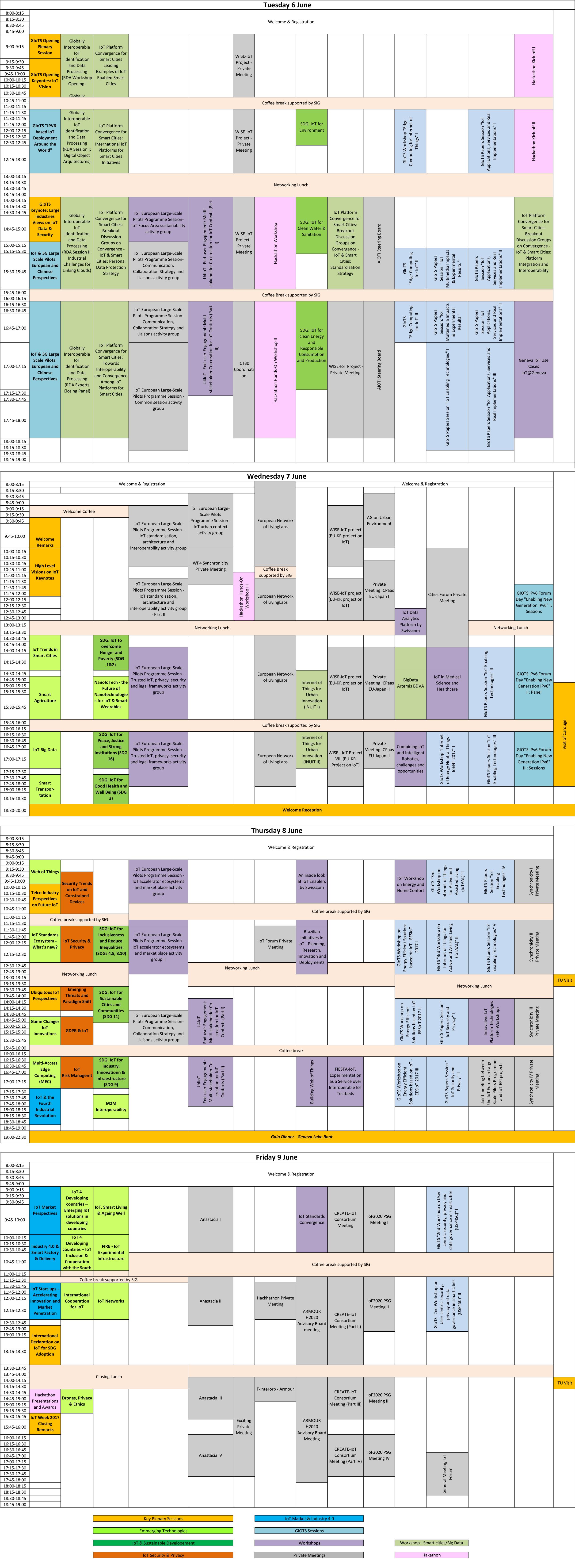 Program - IoT Week